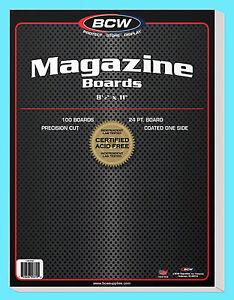 """100 BCW MAGAZINE SIZE 8.5"""" x 11"""" BACKING BOARDS Storage White Backer 24pt 8-1/2"""""""