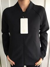 Lululemon Size 8 Embrace The Space Jacket Black Sweat Relaxed Define Thermo NWT