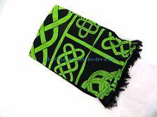 celtic knotwork sarong green black clothing maxi shawl wrap