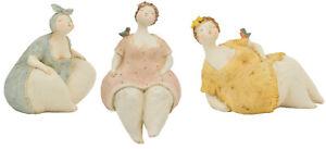 Frau Skulptur Dicke Dame Rubens Modell, 3 Farben