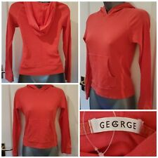 Size 8 Top GEORGE Hoodie Orange/Red Fitted Excellent Condition Women's Casual