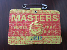 1975 Masters Badge Ticket Augusta National Golf Pga Jack Nicklaus Wins Rare Wow