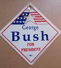 GEORGE BUSH FOR PRESIDENT CAR SIGN rare