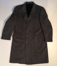 Wm. H. Leishman Wool Cashmere Long Suit Jacket Tip Top made in Canada large