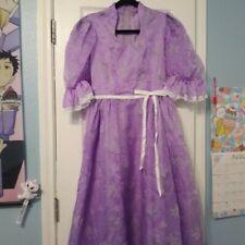 Vintage lilac purple and white gunne sax inspired, long puff sleeve prairie.