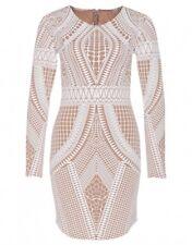 Women's Tone Puff Print Body Con Dresses Curve Black Christmas Party Dress XL Stone