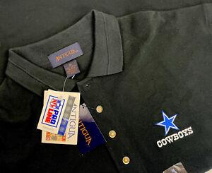 Nos Nwt Dallas Cowboys Antigua Polo Shirt Mens Medium Made USA Pro Shop Vintage