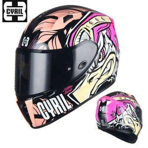 CYRIL AH15Z Comic Semi Matte Full Face Motorcycle DOT ECE Safety Helmet