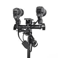 Double E27 Swivel Socket Flash Lamp Bulb Light Stand Mount Umbrella Bracket 7DP1