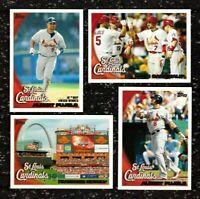 2010 Topps ST. LOUIS CARDINALS Team Set 1 & 2 Updates 33 cards