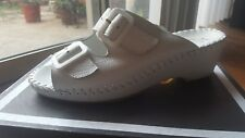 NEW La Plume Franca White Leather Women's Sandals shoes