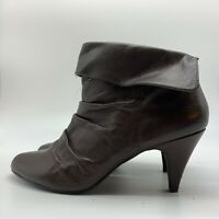 STEVE MADDEN Brown Leather High Heel Ankle Boots, Size10 M