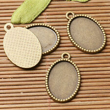 14pcs antiqued bronze color oval cabochon setting in 13x18mm EF3038