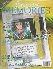 Somerset Memories magazine Project life Wirework Wedding dress Scrapbook papers