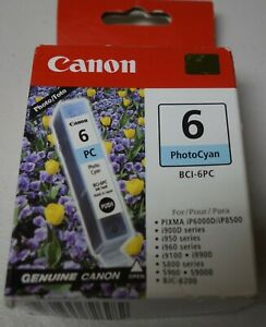 Canon BCI-6PC  Photo Cyan Ink Cartridge 4709A003 Genuine Canon Sealed