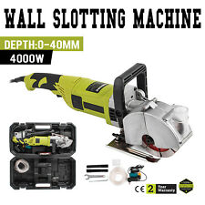 4000W Electric Wall Chaser Groove Cutting Slotting Machine 125mm Concrete Cutter