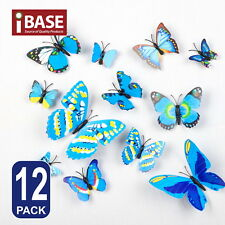 3D Butterfly DIY Wall Decal Removable Sticker Wedding Nursery Self-adhesive Blue