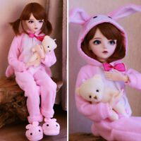 Mode 1/3 BJD Puppe 60cm Mädchen + veränderbare Augen + Kleidung Full Set Doll