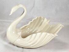 """Large Lenox Porcelain Swan Dish Centerpiece Bowl Figurine 8"""" Long"""