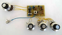 Single Band SW Regenerative Receiver PCB kit and controls. Made in Dorset UK.