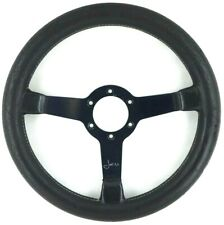 Genuine Momo Jacky Ickx signed edition 320mm leather steering wheel. Rare!    7A