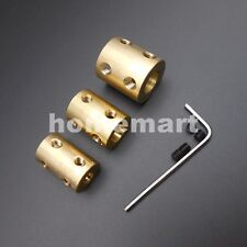NEW 4/5/6/7/8/10/12MM Brass Copper Shaft Motor Rigid Coupling Coupler L: 22mm HQ