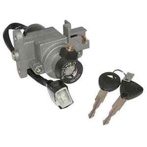 Contacteur a clé complet adaptable PEUGEOT Kisbee 2T / 4T 2 clef scooter NEUF