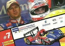 2009 Team Oreca Matmut LMP1 Le Mans Series postcard