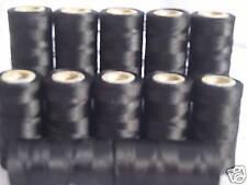 10 ***Black*** silk art embroidery threads, 10 Spools, Good Quality