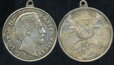 ALLEMAGNE  LUDWIG II  KOENIG  V.BAYERN ( argent )