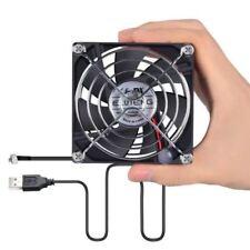Eluteng Computer Fan 80mm with Adjustable Speed Control Silent USB Cooler 5V Por