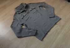 Men's Gap Wool Jumper with Zip Collar