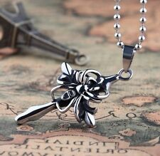 cool 316L Stainless Steel Cross spider Pendant Necklace DY88