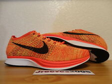 Nike Flyknit Racer BRIGHT CRIMSON Sz 9.5 100% Authentic Trainer Chukka Lunar