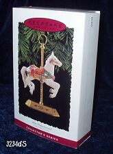 New 1994 Hallmark TOBIN FRALEY CAROUSEL #3 in Series Ornament and Display Stand