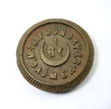 Unique Design Indian Collectible Vintage Round Iron Seer Weight Scale G15-198 US