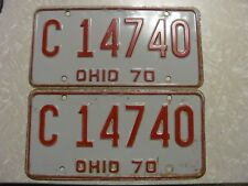 1970 ohio  LICENSE PLATE original paint FREE SHIPPING c 14740