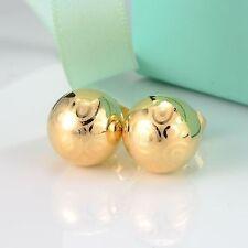 24k Yellow Gold Filled Earrings Ball 8mm bead ear stud GF Women  fashion Jewelry