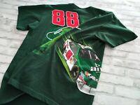Men's NASCAR #88 Dale Earnhardt Jr Double Sided Vinyl Graphic Tee Green M/L