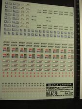 DECALS TRAIN 1/87 MARQUAGES DRAISINES + SIGNALISATIONS CHANTIERS - CARPENA  8758