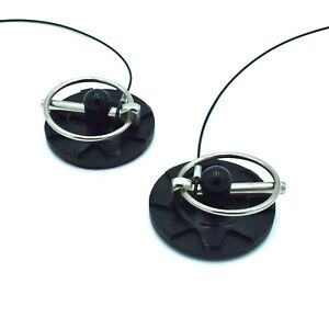 x2 Black Racing Hood Pins Appearance Kit  Fits Charger Challenger Any Year