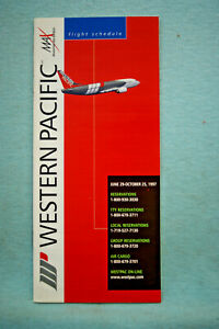 Western Pacific Airlines Timetable, Jun 29 - Oct 25, 1997
