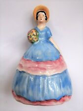 Vintage Art Deco CARLTON WARE Hand Painted Crinoline Lady Napkin Holder