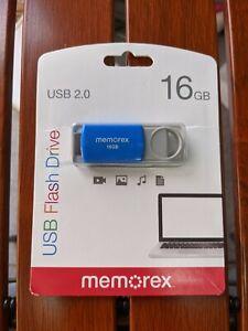 Memorex 16GB Flash Drive USB 2.0 - Blue (32020001621)