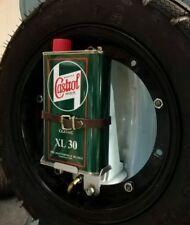 Porta tanica + tanic.CASTROL x Vespa Lambretta tutte_motore,telaio,125 et3 50 gt