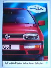 Prospectus VOLKSWAGEN VW GOLF III Rolling Stones, 4.1995, 12 pages