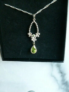 Stunning Sterling silver and Peridot  necklace