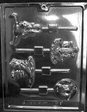 K128 Western Theme Lolly Chocolate Candy Soap Mold w/ Instructions