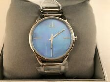 Calvin Klein K3G2312N Blue Mother of Pearl Dial Silver-Tone Band Ladies Watch