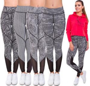 Ladies Gym Sports Leggings Womens High Waisted Slimming Fitness Yoga Pants HL45